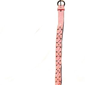 Pink Flower Cross Stitch Belt